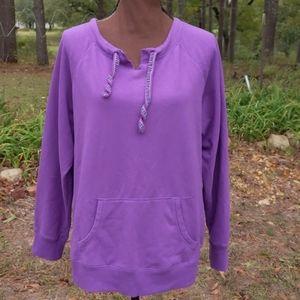 Green Tea Purple Kangaroo Pocket Sweatshirt